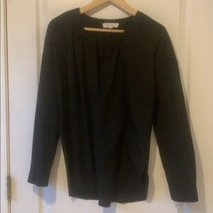 Two by Vince Camuto medium black blouse shirt